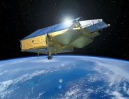 Artist's impression of the CryoSat satellite ; credits Esa/P.Carril